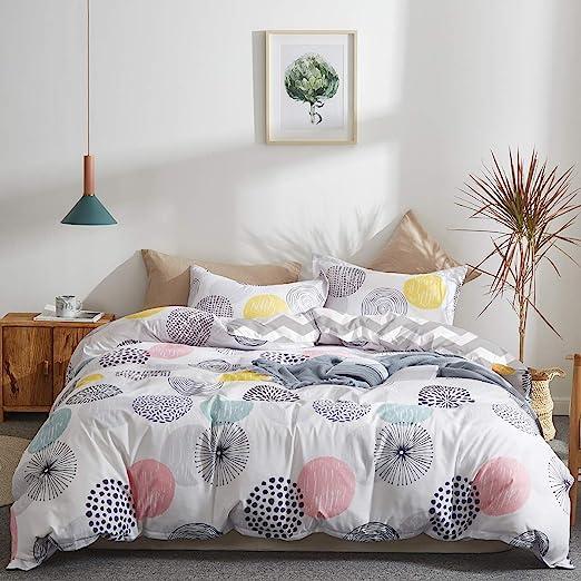 Amazon.com: Uozzi Bedding Colorful Dots Comforter Set King Size