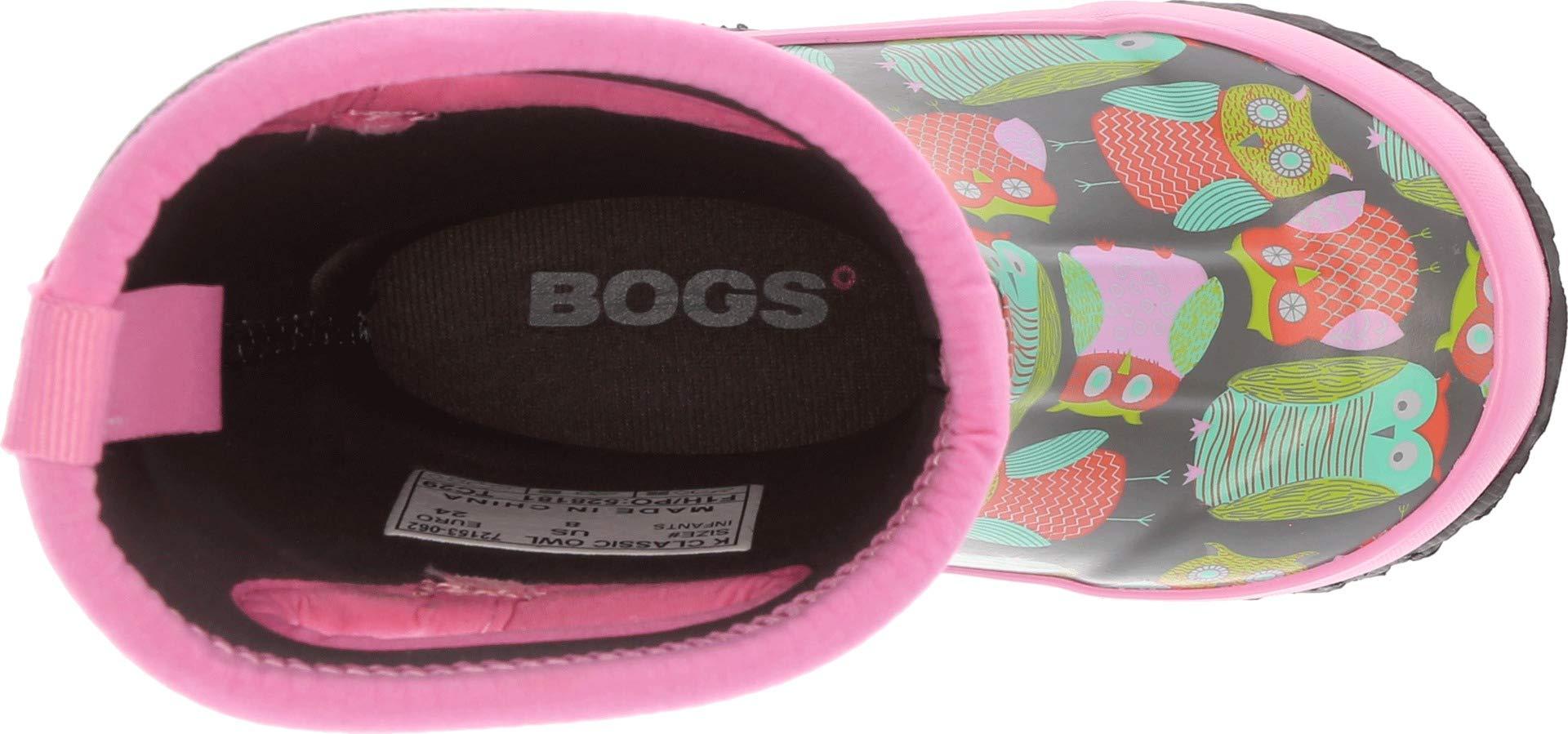 Bogs Kids Baby Girl's Classic Owl (Toddler/Little Kid/Big Kid) Gray Multi 12 M US Little Kid by Bogs (Image #2)