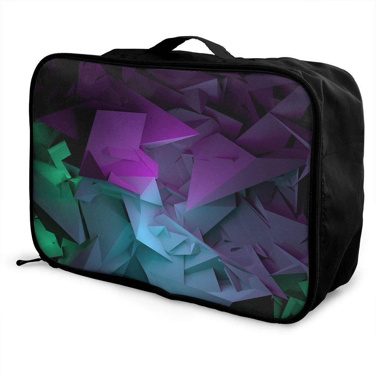 Travel Luggage Duffle Bag Lightweight Portable Handbag Origami Cranes Pattern Large Capacity Waterproof Foldable Storage Tote