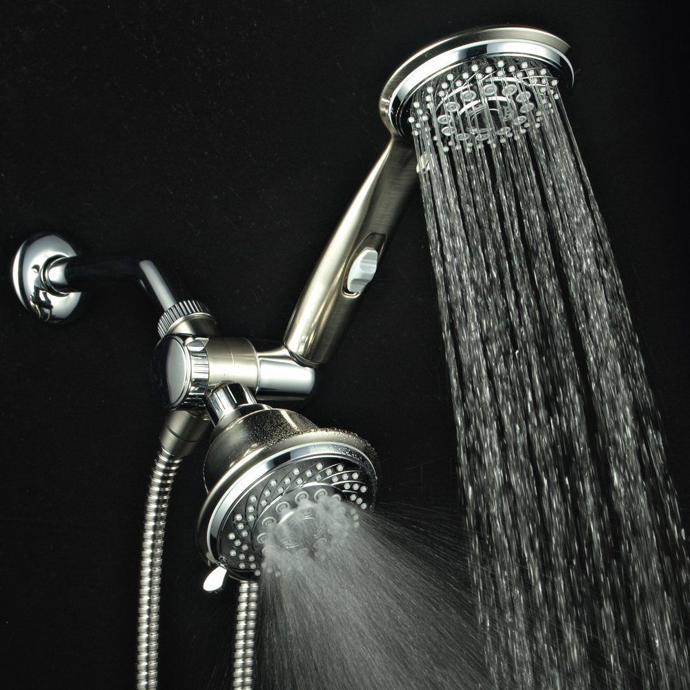 HotelSpa 4391 30-Setting Rain Shower Combo 2 Tone, Chrome/Brushed ...