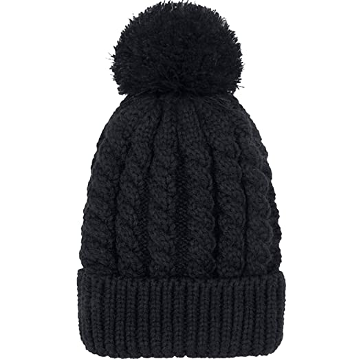 5b5e0a114dc5 Women's Winter Beanie Warm Fleece Lining - Thick Slouchy Cable Knit Skull  Hat Ski Cap(