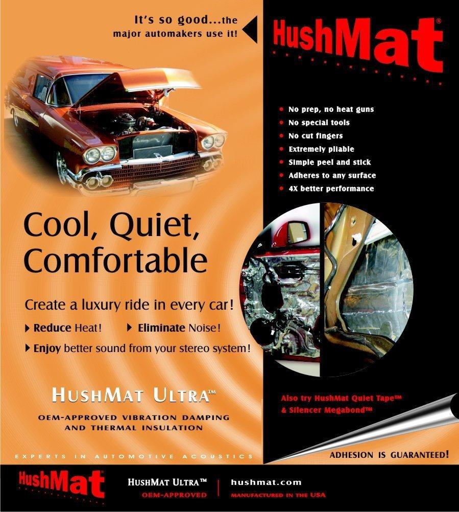 HushMat 10200 Ultra Black Foil Door Kit with Damping Pad - 10 Piece