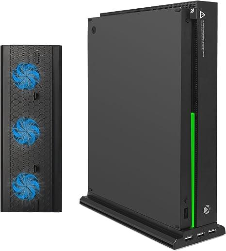 Soporte vertical FastSnail para Xbox One X con refrigerador, 3 puertos USB y una barra de luz (solo para Xbox One X): Amazon.es: Electrónica