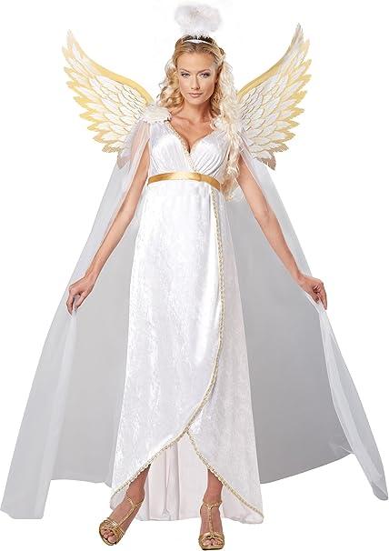 Disfraz de ángel de la Guarda para Mujer, tamaño Mediano: Amazon ...