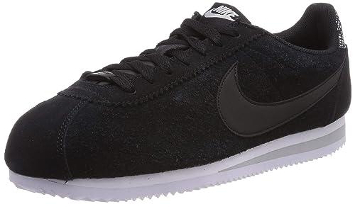 new arrival 2fdfb 91821 Nike Wmns Classic Cortez Prem, Scarpe da Fitness Donna, Multicolore  Black/Wolf Grey