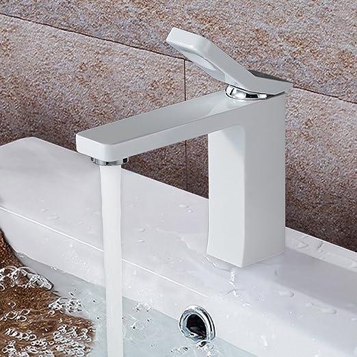 Homelody Weiss Lack Einhebelmischer Wasserhahn Bad Armatur ...