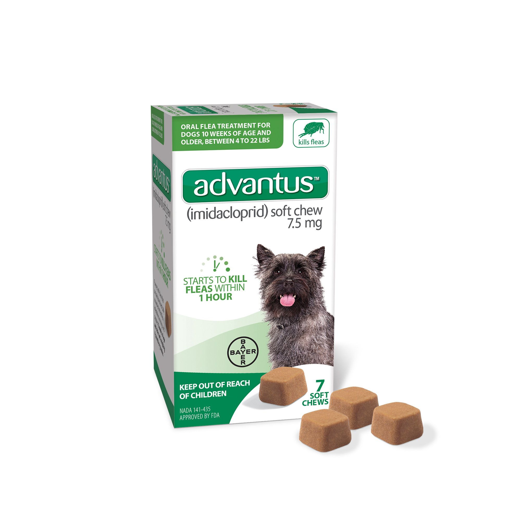 Bayer Animal Health Advantus 7 Soft Chew for Small Dog, 4 lb or Greater