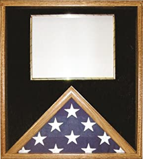 product image for All American Gifts Certificate & 3x5 Flag Display Case - ShadowBox (Black Velvet)