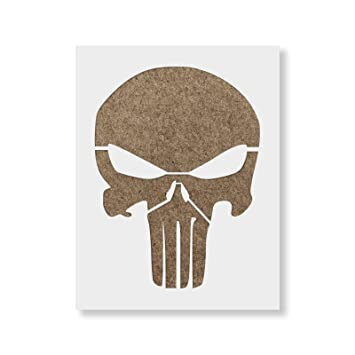 amazon 22cm x 28cm punisher skull stencil template reusable
