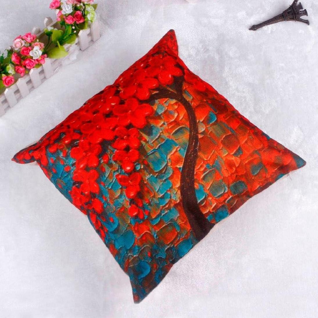Fheaven Tree Flower Throw Pillow Case Cushion Cover Home Sofa Decorative