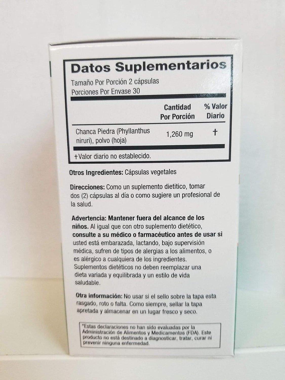 Amazon.com: Salutari Chanca Piedra Capsulas Suplemento Nutricional ...