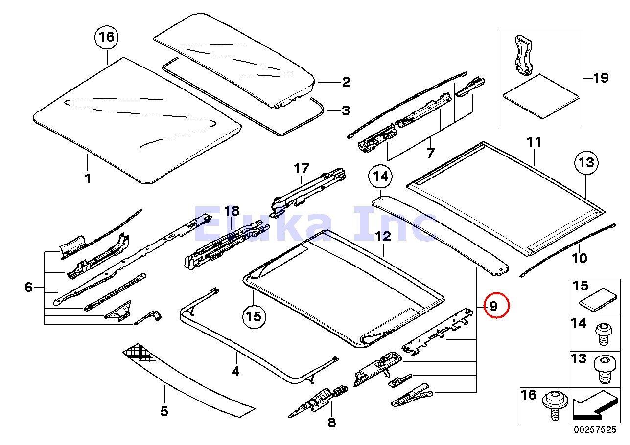 Amazon.com: BMW Genuine Panoramic Roof Sunroof Repair Kit For Sunroof Shade  X5 3.0i X5 4.4i X5 4.8is 530xi 535xi: Automotive