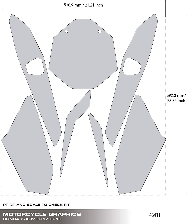 Kit de d/écoration de plaque X-Adventure Sports Uniracing Honda X-ADV