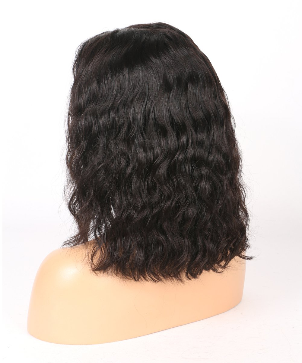 BEEOS Hair Brazilian Virgin Human Hair Lace Front Wigs Glueless Short Bob Human Hair Wigs Wavy With Baby Hair For Black Women 10inch Short Wavy Lace Wigs On Sale by BEEOS (Image #3)