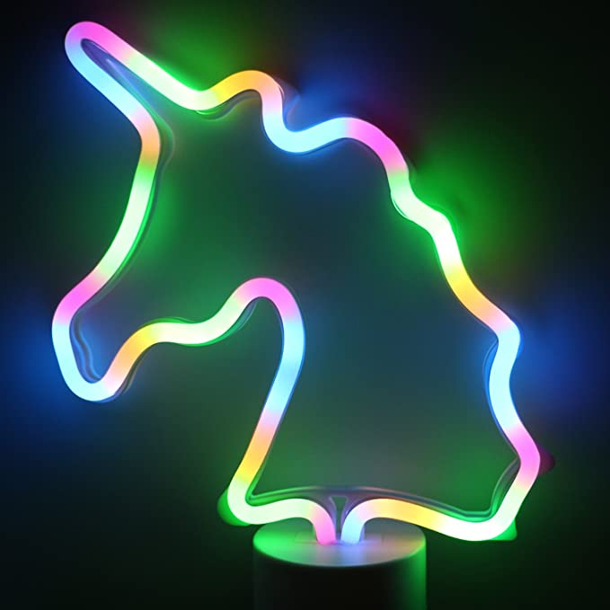 Xiyunte Battery Powered Neon Lights With Base Amazon Com