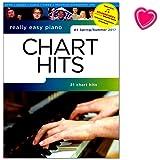 Really Easy Piano - Chart Hits - Nr. 4 Spring / Summer 2017 - Songbook mit Online-Audio und bunter herzförmiger Notenklammer