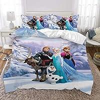 Pyiuhs Frozen Forest Spirit Magical Winter Full Size Bedding Set Bed for Girls Without Comforter Including 1 Duvet Cover…