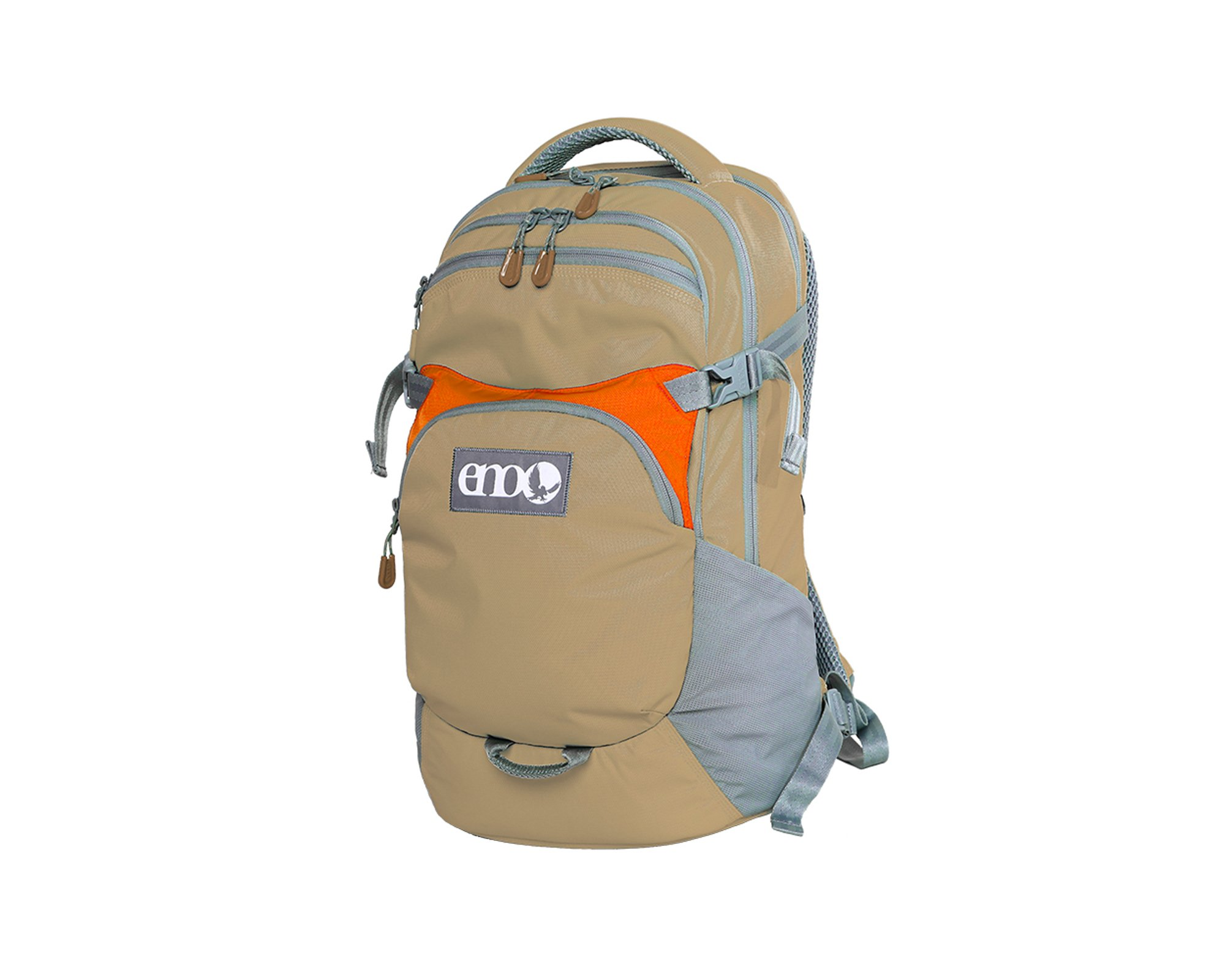 Eagles Nest Outfitters ENO Rothbury Backpack, Khaki/Orange by Eagles Nest Outfitters