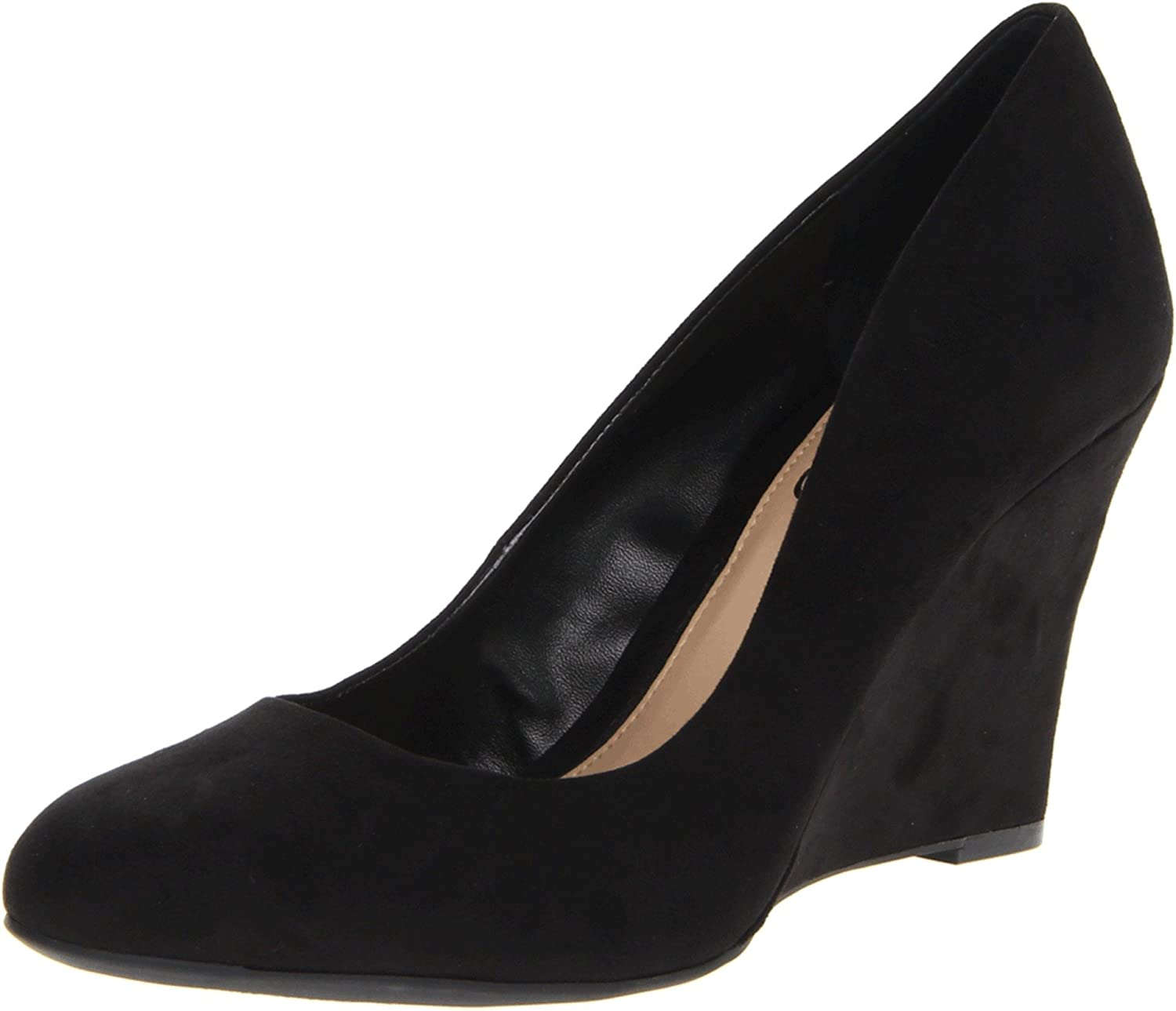 Black Suede Jessica Simpson Women's Cash Wedge Pump
