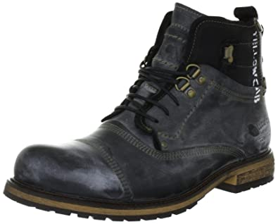 9a6b1cb358 Yellow Cab Men s SOLDIER M Cold lined biker boots short shaft boots and  bootees Black Size