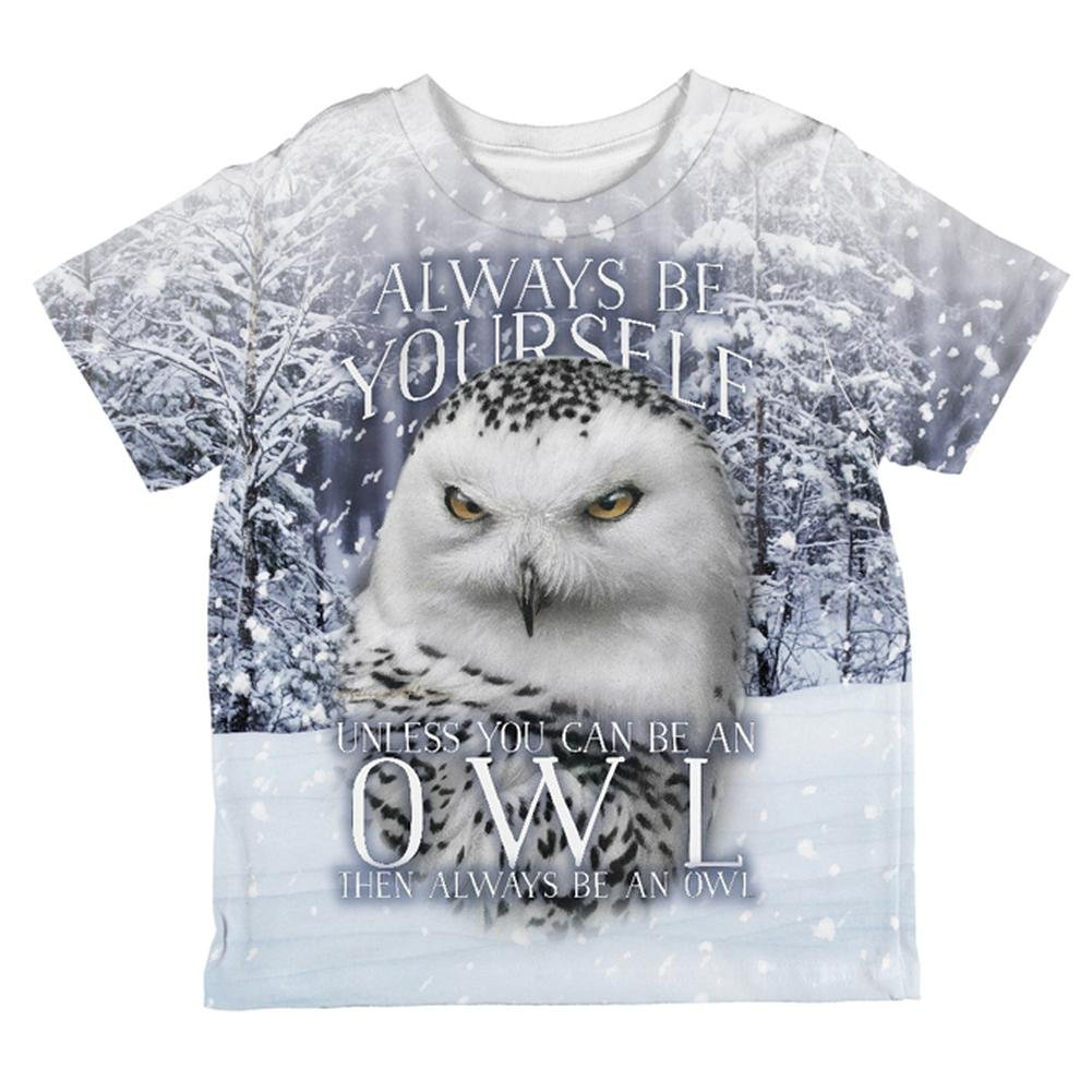 Always Be Yourself Unless Snowy Winter Owl All Over Toddler T Shirt