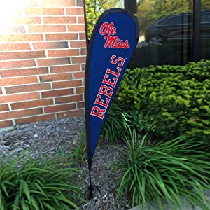 College Flags & Banners Co. Ole Miss Small Feather Garden Flag