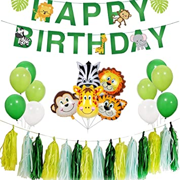 REYOK Jungle Theme Birthday Party Decoración de Fiesta de ...
