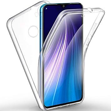 AROYI Funda Xiaomi Redmi Note 8, Ultra Slim Doble Cara Carcasa Protector Transparente TPU Silicona + PC Dura Resistente Anti-Arañazos Protectora Case ...