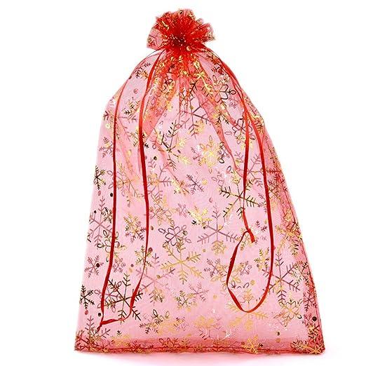 Souarts rojo de color Dorado cordón bolsas de Organza de ...