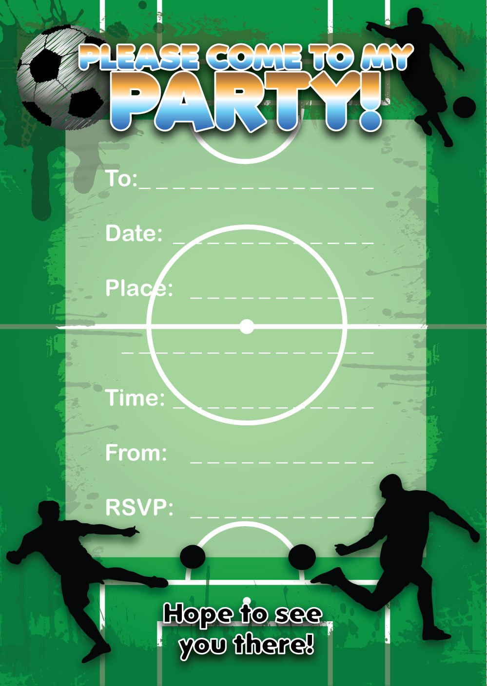 16 Football themed Birthday invitations EzStickers