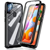 HATOSHI Samsung Galaxy A11 Case, with Built in Screen Protector and 2 Pack Camera Lens Protector, 5X Military-Grade Shockproo