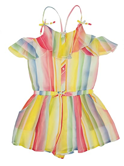 49072ce1f20a Mayoral 28-06806-004 - Soft Cotton Stripes Romper for Girls 16 Years  Fuchsia  Amazon.co.uk  Clothing