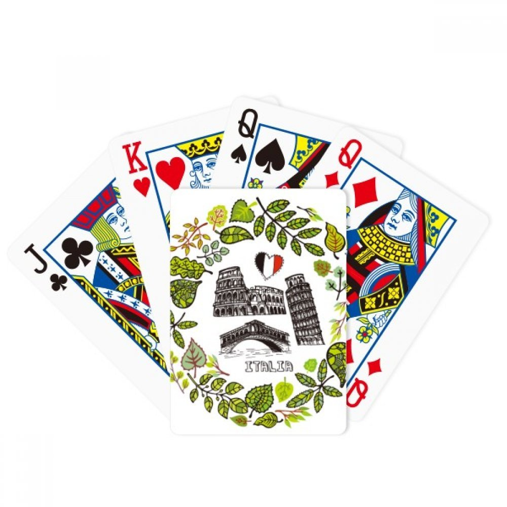 Colosseum Pisa Rialto Bridge Italy Poker Playing Card Tabletop Board Game Gift
