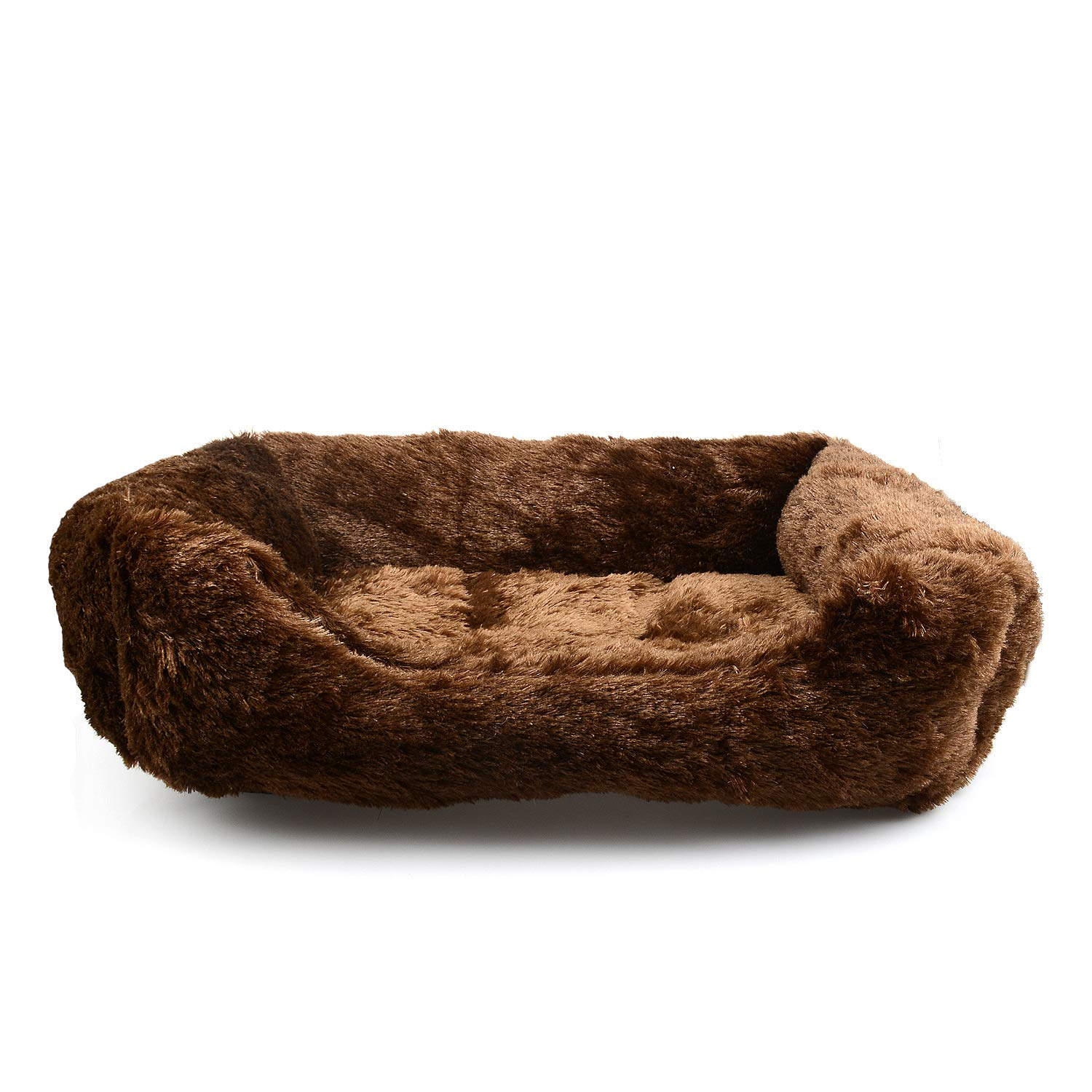 S KEYI Luxury Cozy Furry pet Bed for Dogs and Cats (S)
