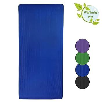 Esterilla colchoneta –de yoga HAPPY 185 cm x 80 cm x 1.5 cm para fitness deportiva pilates gimnasia ejercicio