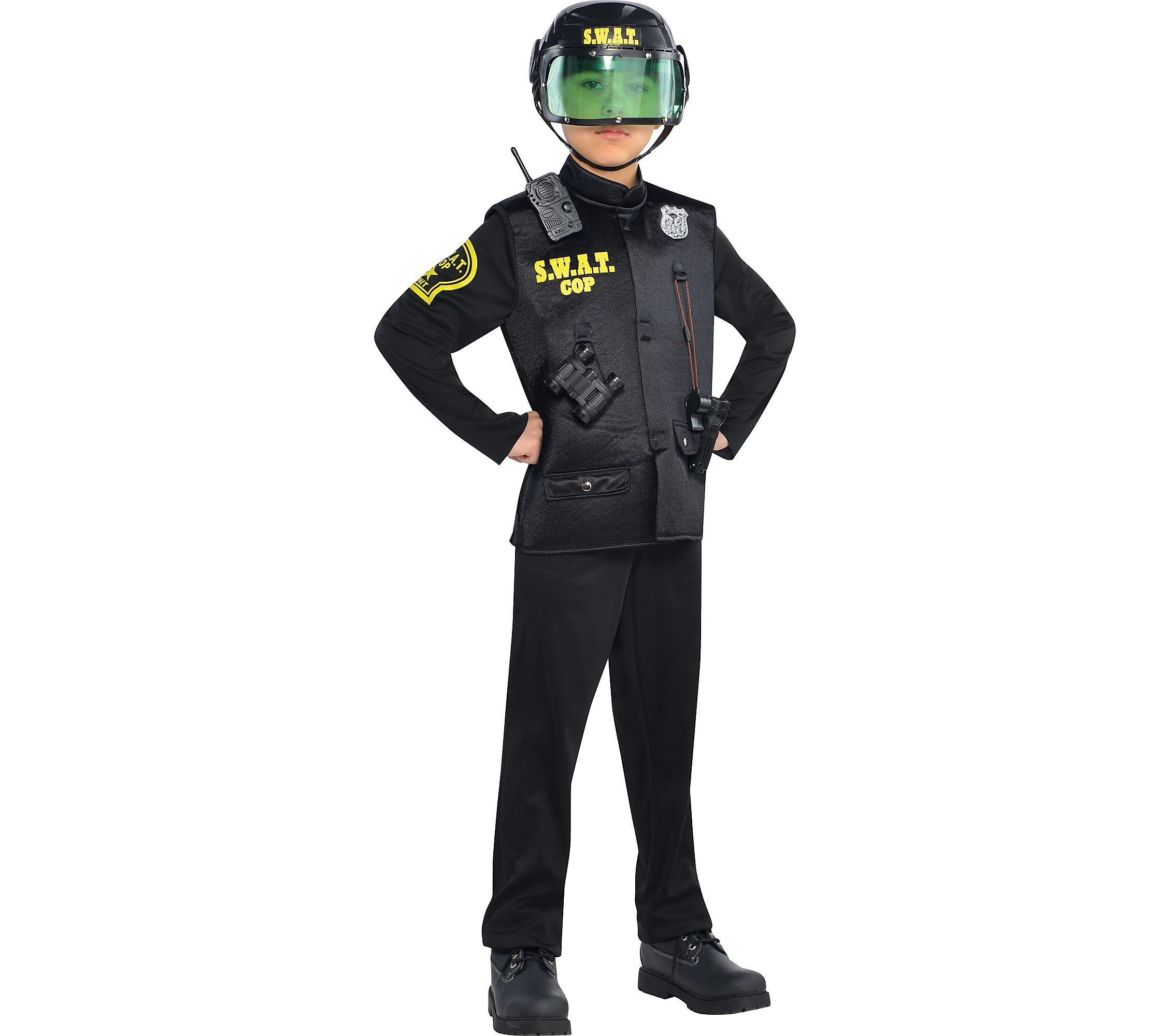 AMSCAN SWAT Cop Halloween Costume for Boys, Small, with Included Accessories