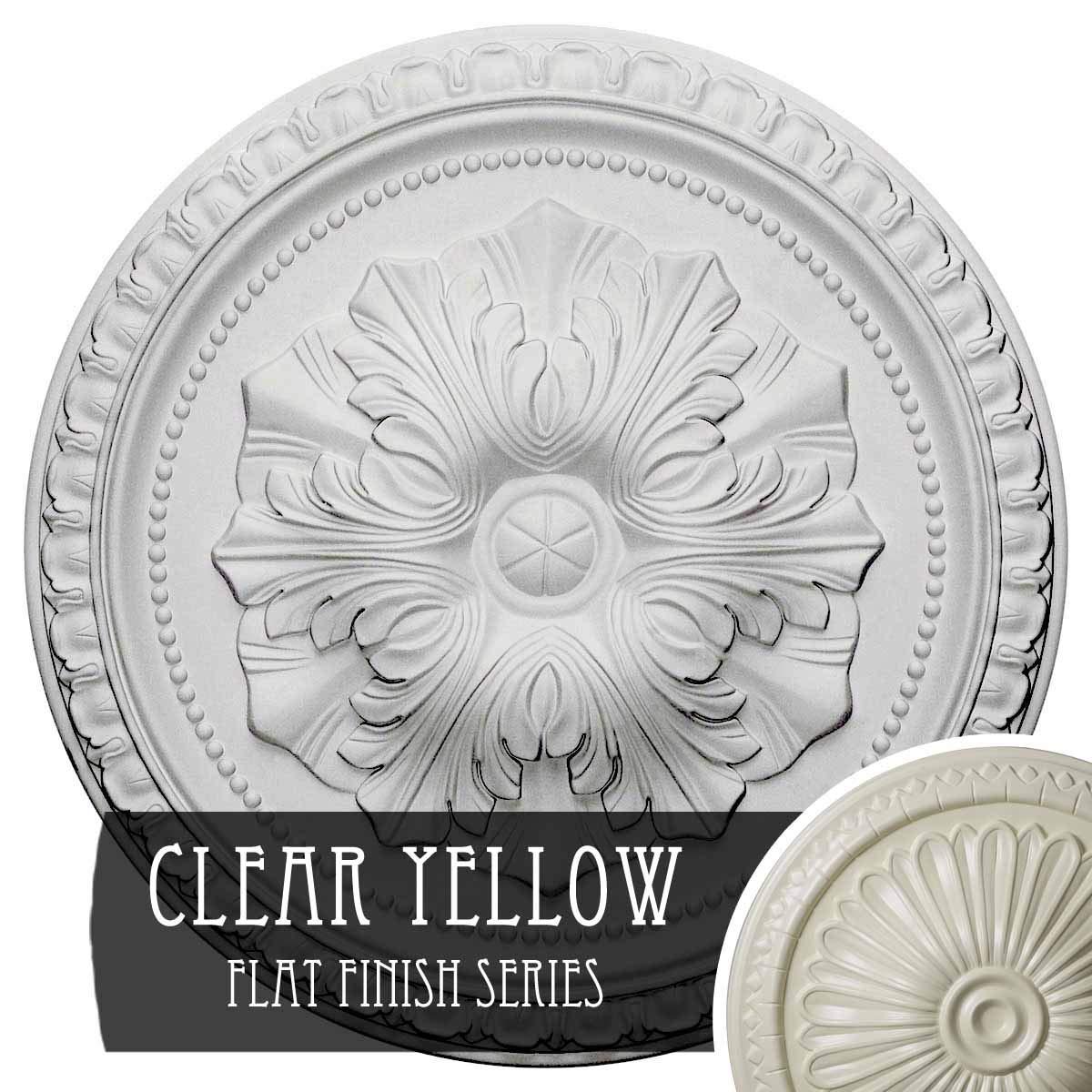 Ekena Millwork CM18RICYF Richmond Ceiling Medallion, 18'' OD x 1 3/8'' P, Clear Yellow
