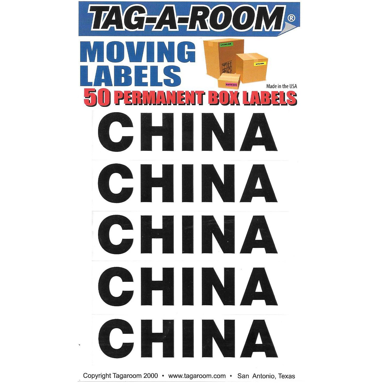 Tag-A-Room Box Content Moving Label