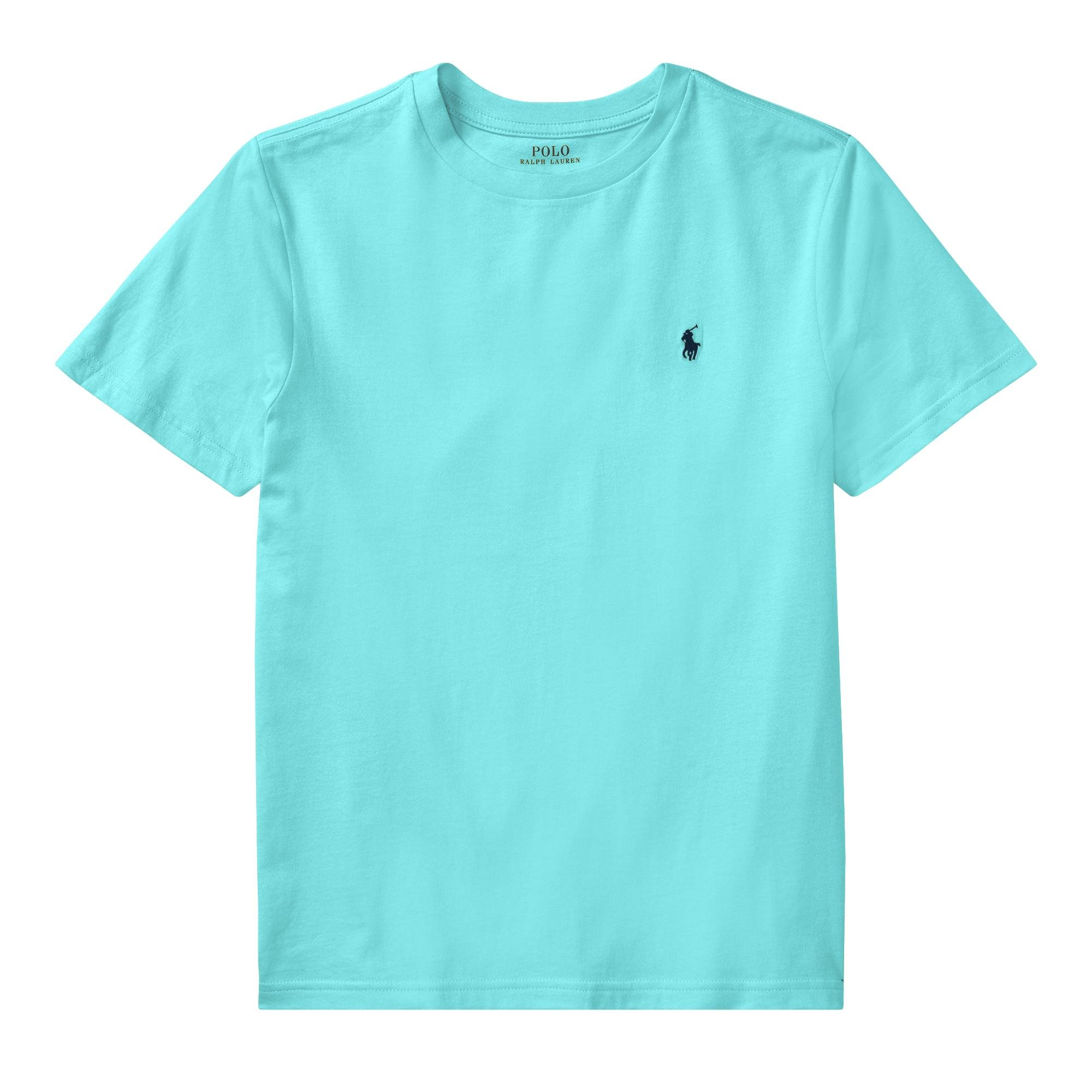RALPH LAUREN Polo Boys Crew Neck Pony Logo T-Shirt (L, LightMint)