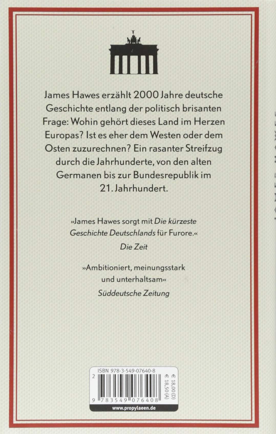Die Kürzeste Geschichte Deutschlands Amazonde James Hawes