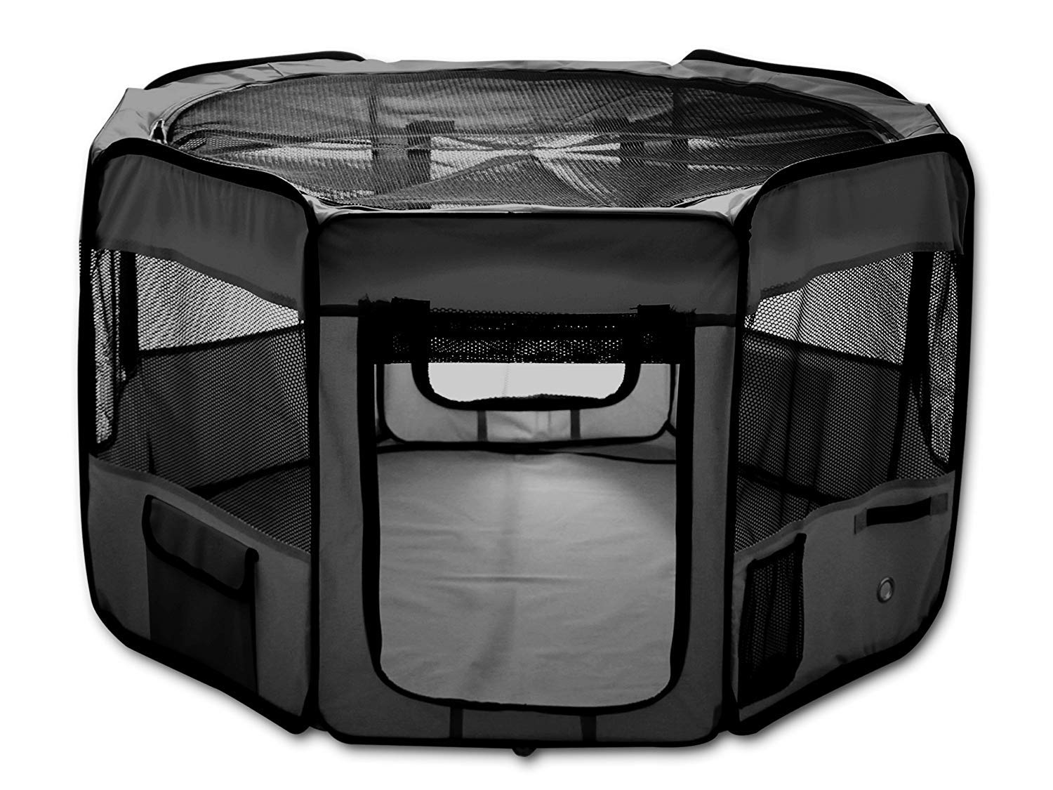 ESK Collection 48'' Pet Puppy Dog Playpen Exercise Pen Kennel 600D Oxford Cloth Black by ESK Collection (Image #1)