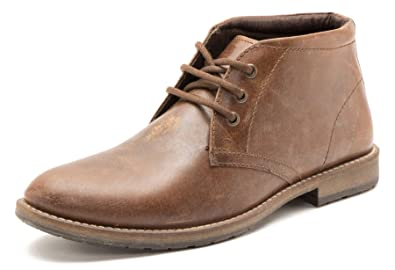 770b4ca5e32 Red Tape Bexton Brown Leather Lace Up Chukka Desert Mens Boots 3 Eye  Cleated: Amazon.co.uk: Shoes & Bags