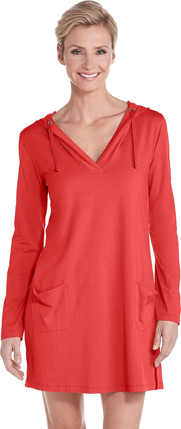 b6110066279 Coolibar UPF 50+ Women s Beach Cover-Up Dress - Sun Protective (X-Large-  Poppy Red) at Amazon Women s Clothing store