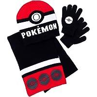 Pokemon Boys Hat Scarf and Gloves Set
