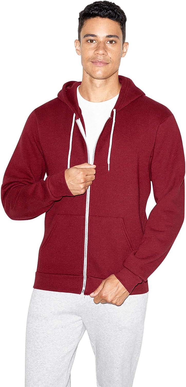 American Apparel Mens Flex Fleece Long Sleeve Zip Hoodie Hooded Sweatshirt