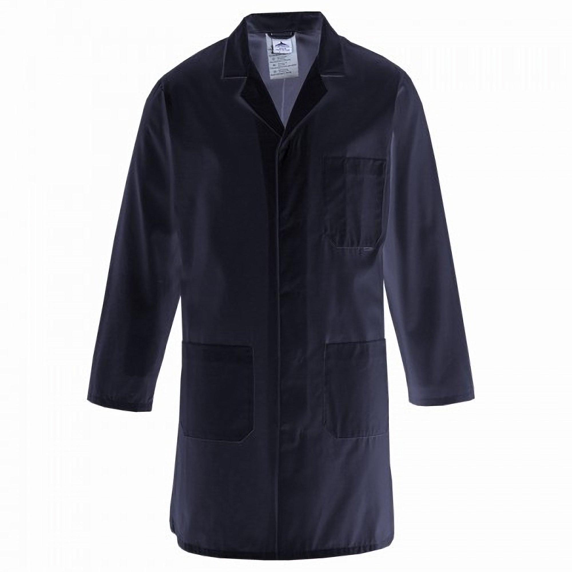 Portwest Standard Workwear Lab Coat (Medical Health) (3XL (54-55 Inch Chest)) (Navy)