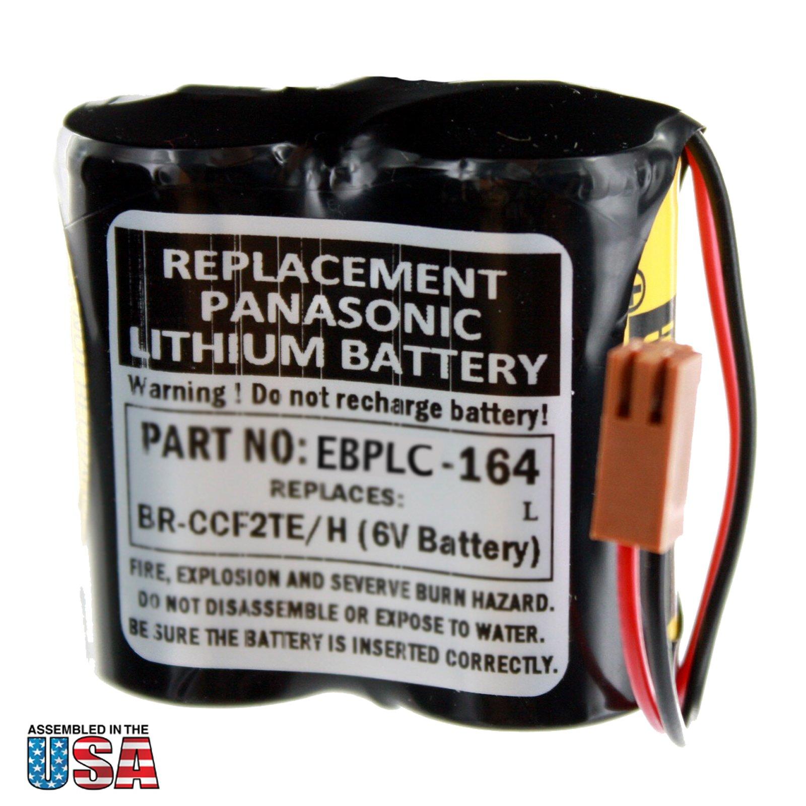 Exell PLC Lithium 6V 5000mAh Computer Backup Battery, Replaces Cutler Hammer A06, COMP164, Fanuc A98L-0001-0902, Ge Fanuc A06B0073K001, A06B6073K001, A98L003100011, A98L003100012, A98L00310006