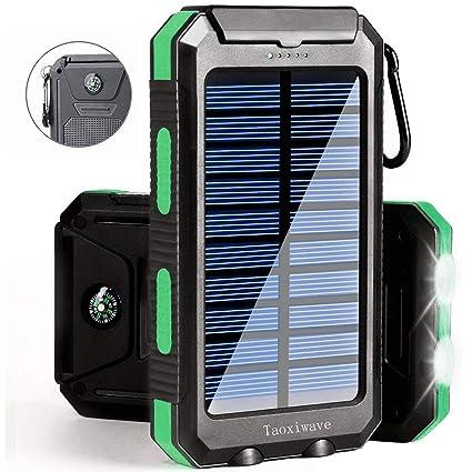 Amazon.com: Cargador Solar Banco de Energía Solar 20000mAh ...