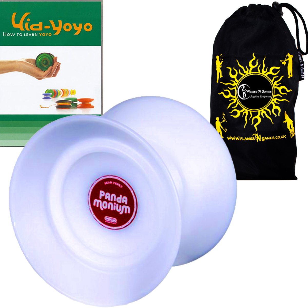 Duncan PANDAMONIUM Jumbo Butterfly Shape Offstring Yoyo - Supreme Quality Large Yo Yo For 4A Tricks + Kid YoYo DVD + Travel Bag! Ideal Yo-Yo for Competitions All Ages