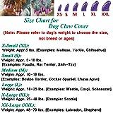 JOYJULY 100pcs Dog Nail Caps Soft Claws Covers Nail
